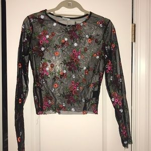 Urban outfitters mesh long sleeve